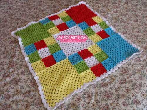 Bebes blog a crochet acrochet page 9 - Mantas de crochet a cuadros ...