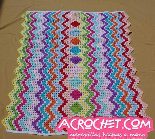 Manta Granny Zig Zag Multicolor parte 2   Blog a Crochet - ACrochet