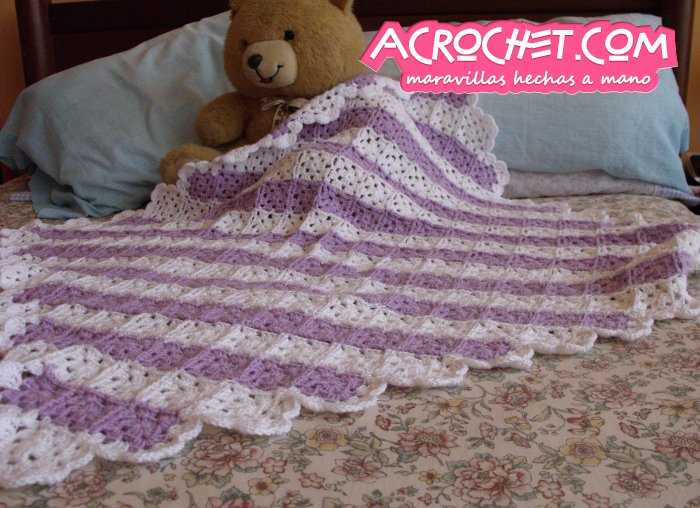 Manta Granny diagonal Parte 1 | Blog a Crochet - ACrochet