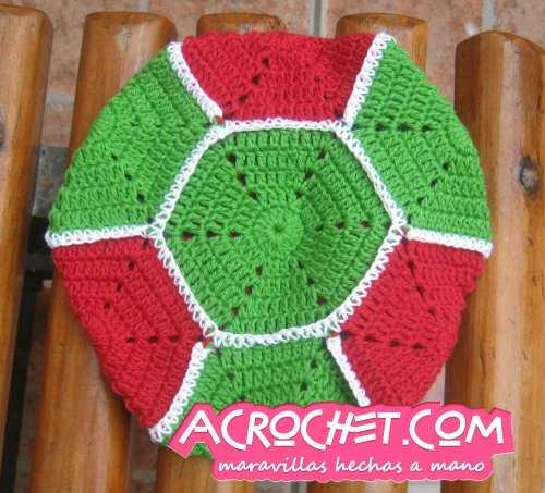 Juegos De Baño Crochet Paso A Paso:Agarraollas_hexagonal_final