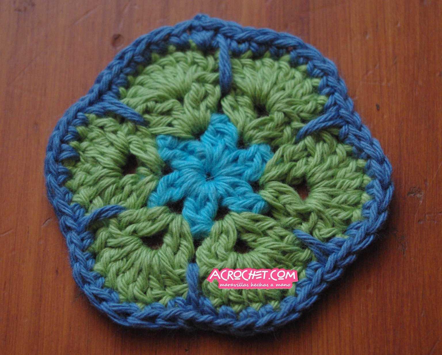 Hagamos una Flor Africana 6 lados Paso 1 | Blog a Crochet - ACrochet