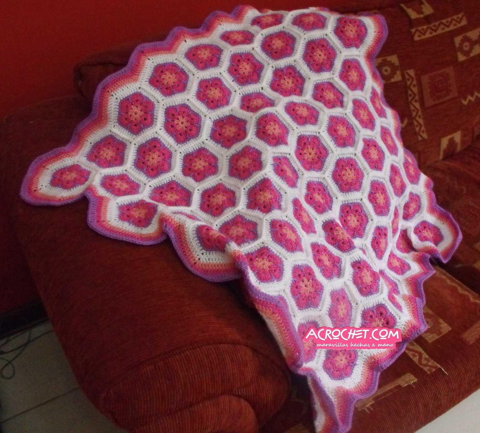 Manta de Flores Africanas Parte 2 | Blog a Crochet - ACrochet