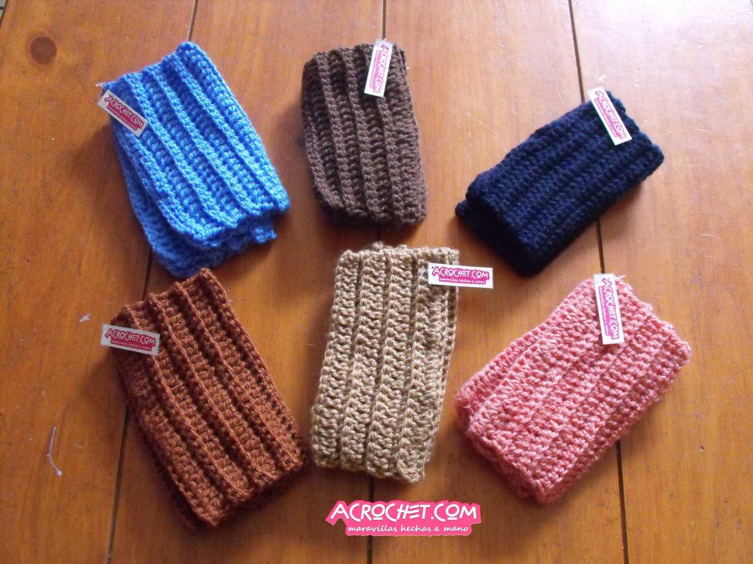 Mitones con puntos escalonados | Blog a Crochet - ACrochet