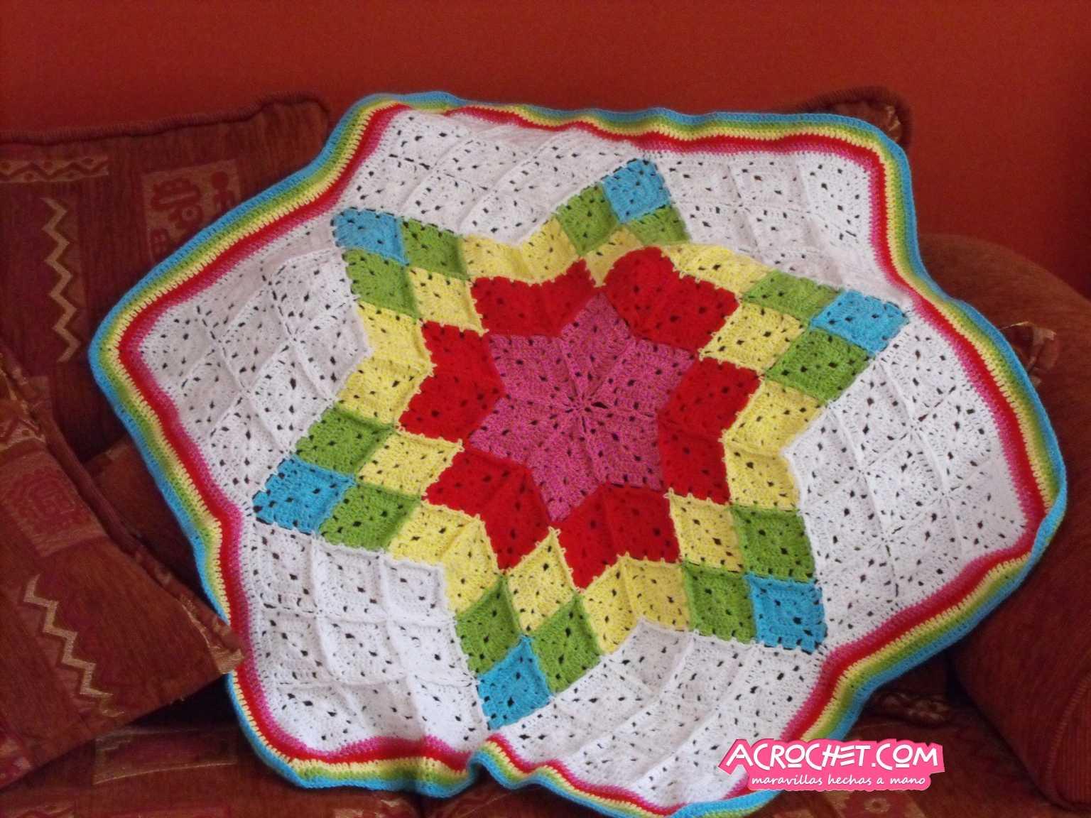 Manta hexagonal con rombos Parte 1 | Blog a Crochet - ACrochet