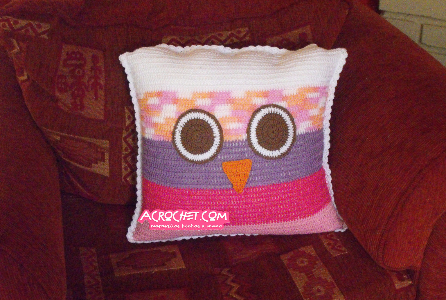 Cojin Buho Parte 1 | Blog a Crochet - ACrochet