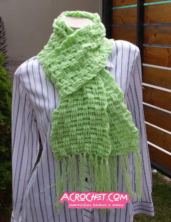 Una bufanda en punto canasta | Blog a Crochet - ACrochet