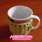 Cubre taza en punto de fantasia # 14