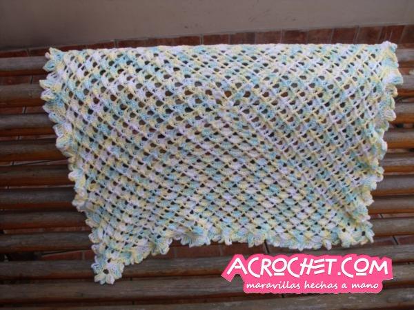 Chalina con trenzas blog a crochet acrochet - Mantas de crochet paso a paso ...